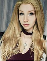 economico -Parrucche Lace Front Sintetiche Liscio Capelli sintetici Biondo Parrucca Per donna 13 cm Lace frontale