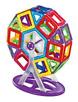 preiswerte -Magnetische Bauklötze Spielzeuge Asiatisch Transformierbar Weicher Kunststoff 58 Stücke