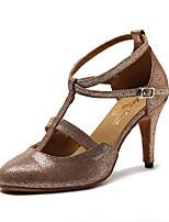 abordables -Femme Modernes Similicuir Sandale Basket Soirée Entraînement Ornement Talon Aiguille Or Personnalisables