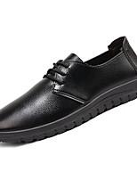 Недорогие -Муж. обувь Полиуретан Весна Осень Удобная обувь Туфли на шнуровке для Повседневные Черный Кофейный Коричневый