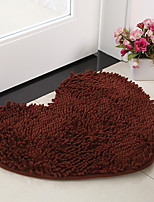 cheap -Casual Bath Rugs Chenille Solid Heart Shaped
