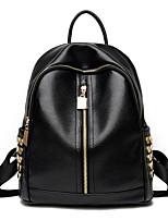 Недорогие -Женский Мешки Полиуретан рюкзак Бусины для Повседневные на открытом воздухе Все сезоны Черный