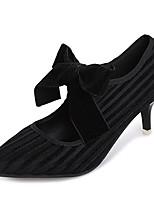 Недорогие -Жен. Обувь Полиуретан Весна Осень Удобная обувь Обувь на каблуках На шпильке для Черный Зеленый