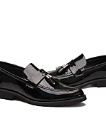 cheap -Men's Shoes Leather Patent Leather Spring Fall Comfort Loafers & Slip-Ons for Wedding Casual Black