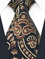cheap -Silk Necktie,Vintage Work Casual All Seasons Black