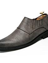Недорогие -Муж. обувь Полиуретановая кожа Весна Осень Удобная обувь Мокасины и Свитер для Повседневные Черный Серый Коричневый
