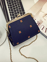 cheap -Women Bags PU Shoulder Bag Buttons for Casual All Season Black White Blue