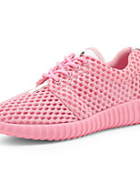 cheap -Women's Shoes Tulle Spring Fall Comfort Sneakers Flat for Casual Pink Black White