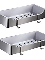 cheap -Bathroom Shelf Others Stainless Steel + A Grade ABS Nickel Brushed Wall Mounted