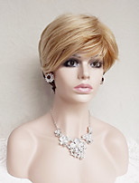 cheap -Synthetic Hair Wigs Wavy With Bangs Party Wig Natural Wigs Strawberry Blonde/Medium Auburn