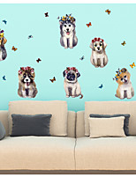 cheap -Animals 3D Wall Stickers 3D Wall Stickers Decorative Wall Stickers, Paper Home Decoration Wall Decal Wall Window