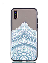 baratos -Capinha Para Apple iPhone X iPhone 8 Plus Transparente Estampada Capa Traseira Mandala Rígida Acrílico para iPhone X iPhone 8 Plus iPhone