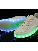 cheap -Unisex Shoes PU Spring Fall Comfort Sneakers for Casual White Black