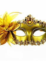 cheap -Carnival Venetian Mask Masquerade Mask Black Golden Silver Metal Cosplay Accessories Masquerade
