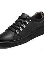 cheap -Men's Shoes Cowhide Spring Fall Comfort Sneakers for Casual Gray Black