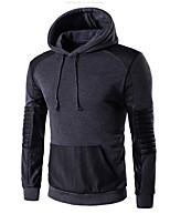 cheap -Men's Daily Casual Hoodie Color Block Hooded Micro-elastic Polyester Long Sleeve Winter Fall