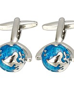 cheap -Globe Blue Cufflinks Copper Basic Fashion Formal Office & Career Men's Costume Jewelry