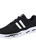 cheap -Men's Shoes PU Tulle Leather Spring Fall Light Soles Comfort Sneakers Walking Shoes for Casual Gray Green Black/White