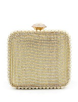 cheap -Women Bags Polyester Evening Bag Crystal Detailing Pearl Detailing for Wedding Event/Party All Season Gold