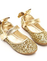 cheap -Girls' Shoes Paillette Spring Fall Ballerina Flower Girl Shoes Flats Bowknot Sequin Magic Tape for Party & Evening Dress Silver Gold