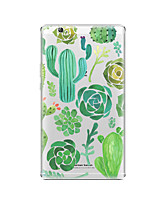 cheap -Case For Huawei Huawei MediaPad T3 8.0 Transparent Pattern Back Cover Plants Soft TPU for
