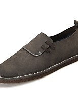 cheap -Men's Shoes Pigskin Spring Fall Comfort Loafers & Slip-Ons for Outdoor Brown Coffee Gray