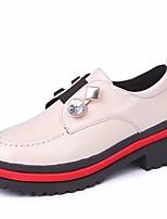 preiswerte -Damen Schuhe PU Frühling Herbst Komfort Outdoor Blockabsatz für Normal Schwarz Beige Braun
