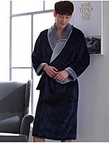 abordables -Costumes Pyjamas Homme,Mosaïque Epais Polyester Marine Vin