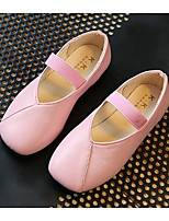 cheap -Girls' Shoes Leatherette Spring Fall Comfort Flats for Casual Pink Beige Black