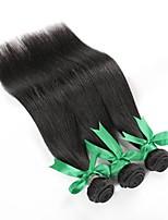 cheap -Brazilian Straight Human Hair Weaves 3 Pieces 0.15