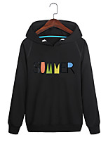 cheap -Men's Plus Size Daily Sports Casual Street chic Hoodie Solid Print Hooded Without Lining Micro-elastic Cotton Polyester Long Sleeve