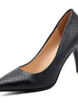 preiswerte -Damen Schuhe PU Frühling Herbst Komfort High Heels Stöckelabsatz für Draussen Weiß Schwarz