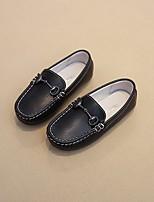 preiswerte -Jungen Schuhe Künstliche Mikrofaser Polyurethan Frühling Herbst Komfort Loafers & Slip-Ons für Normal Weiß Schwarz