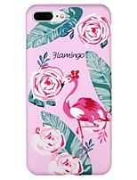 cheap -Case For Apple iPhone 7 iPhone 6 IMD Pattern Back Cover Flamingo Cartoon Flower Soft TPU for iPhone X iPhone 8 Plus iPhone 8 iPhone 7