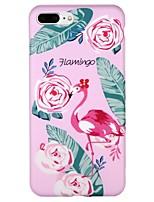 Недорогие -Кейс для Назначение Apple iPhone 7 iPhone 6 IMD С узором Задняя крышка Фламинго Мультипликация Цветы Мягкий TPU для iPhone X iPhone 8
