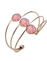abordables -Femme Bracelets Rigides Manchettes Bracelets , Cadeau Coloré Résine Cuivre Plaqué or Bijoux Anniversaire