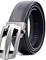 cheap -Men's Genuine Leather Waist Belt,Black Party Work Casual Geometric Modern Style Stylish