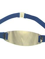 cheap -Women's Gold Alloy Waist Belt,Blue White Black Red Light Blue Casual
