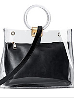 cheap -Women Bags PU Bag Set 2 Pieces Purse Set Zipper for Casual Spring Black Gold