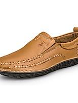 Недорогие -Для мужчин обувь Натуральная кожа Наппа Leather Кожа Весна Осень Удобная обувь Формальная обувь Обувь для дайвинга Мокасины и Свитер для