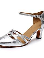 """cheap -Women's Modern Leatherette Sneaker Training Trim Low Heel Silver Black 1"""" - 1 3/4"""" Customizable"""
