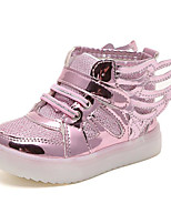 cheap -Girls' Shoes PU Spring Fall Comfort Sneakers for Casual Pink Silver Gold