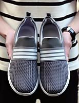 Недорогие -Для мужчин обувь Дышащая сетка Весна Осень Удобная обувь Кеды для Черный Серый Черно-белый