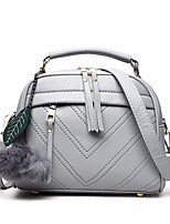 cheap -Women Bags PU Tote Feathers / Fur for Outdoor Winter Fall Camel Light Gray Blushing Pink Red Black