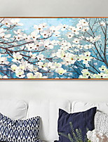 cheap -Floral/Botanical Oil Painting Wall Art,Aluminum Alloy Material With Frame For Home Decoration Frame Art Bedroom Indoor