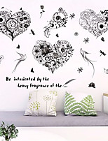 cheap -Animals Floral/Botanical Wall Stickers 3D Wall Stickers Decorative Wall Stickers, Paper Home Decoration Wall Decal Wall