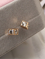 cheap -Women's Stud Earrings Sweet Lovely Zircon Alloy Geometric Jewelry Party Daily