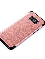 baratos -Capinha Para Samsung Galaxy S8 Plus S8 Galvanizado Capa Traseira Côr Sólida Glitter Brilhante Macia Couro Ecológico para S8 Plus S8 S7