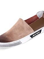 abordables -Homme Chaussures Polyuréthane Automne Confort Mocassins et Chaussons+D6148 pour Décontracté Noir Vin Kaki