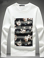 cheap -Men's Going out Sweatshirt Print Round Neck Micro-elastic Polyester Long Sleeve Fall